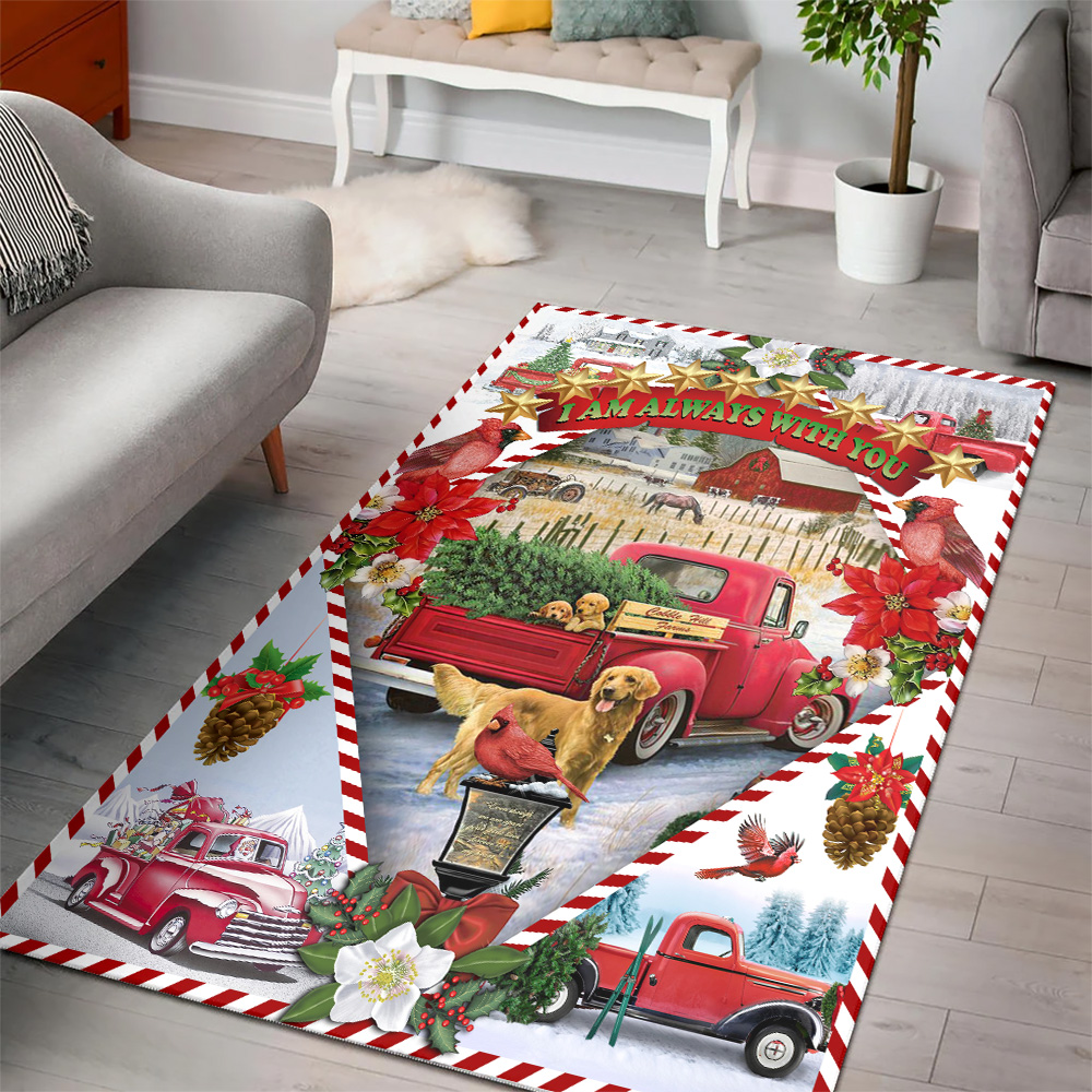 Personalized Floor Area Rugs I Am Always With You  Pattern 1 Indoor Home Decor Carpets Suitable For Children Living Room Bedroom Birthday Christmas Aniversary