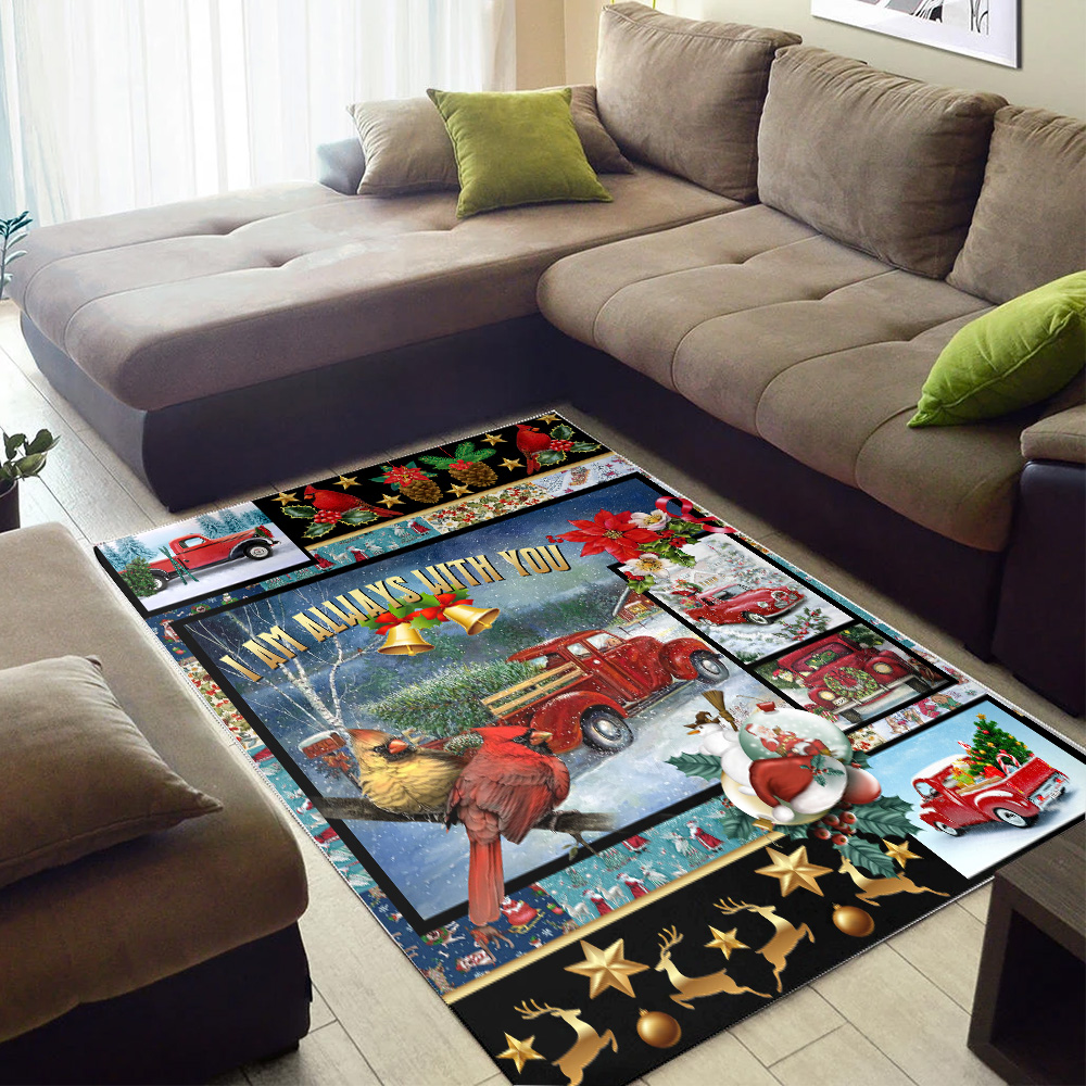 Personalized Floor Area Rugs I Am Always With You  Pattern 2 Indoor Home Decor Carpets Suitable For Children Living Room Bedroom Birthday Christmas Aniversary