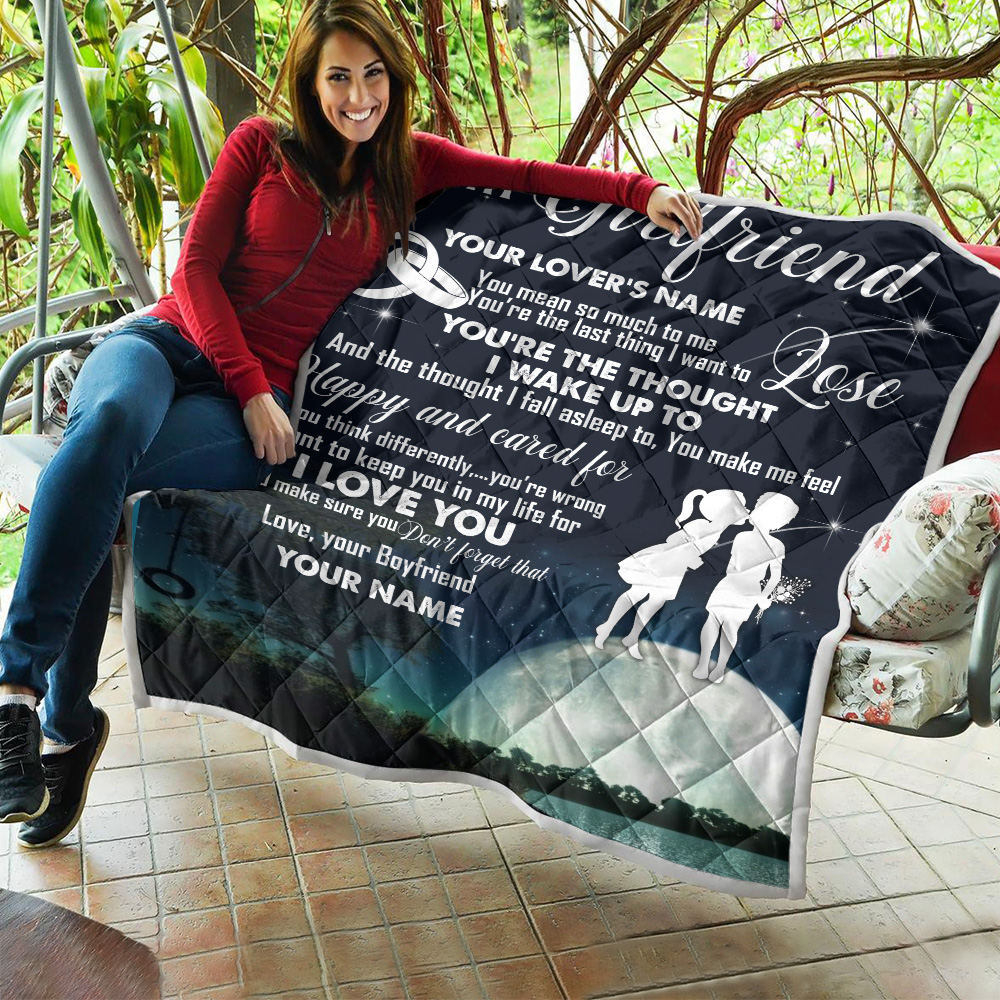 Personalized Lovely Quilt Throw Blanket To My Girlfriend I Want To Keep You In My Life For I Love You Pattern 2 Lightweight Super Soft Cozy For Decorative Couch Sofa Bed