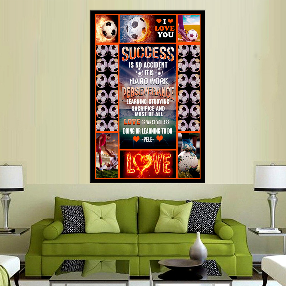 Personalized Wall Art Poster Canvas 1 Panel Success Is No Accident Love Of What You Are Doing Or Learning To Do Great Idea For Living Home Decorations Birthday Christmas Aniversary