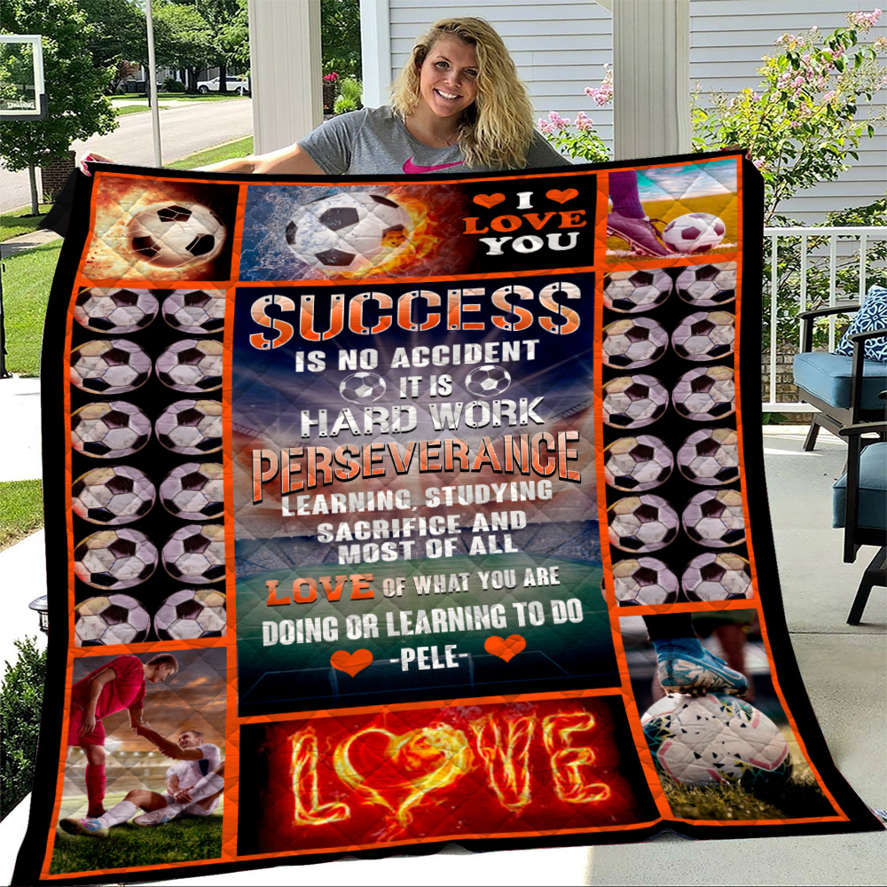 Personalized Quilt Throw Blanket Success Is No Accident Love Of What You Are Doing Or Learning To Do Lightweight Super Soft Cozy For Decorative Couch Sofa Bed