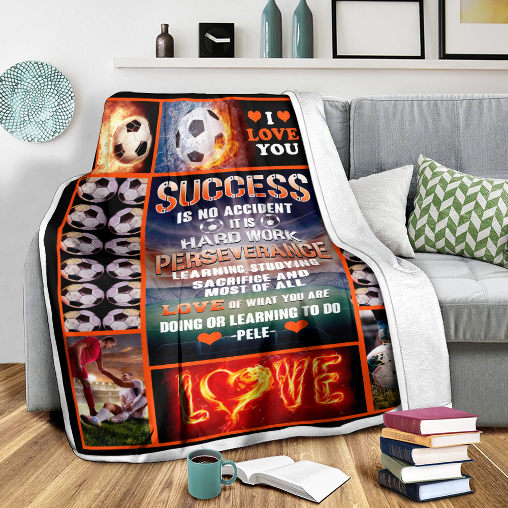 Personalized Fleece Throw Blanket Success Is No Accident Love Of What You Are Doing Or Learning To Do Lightweight Super Soft Cozy For Decorative Couch Sofa Bed