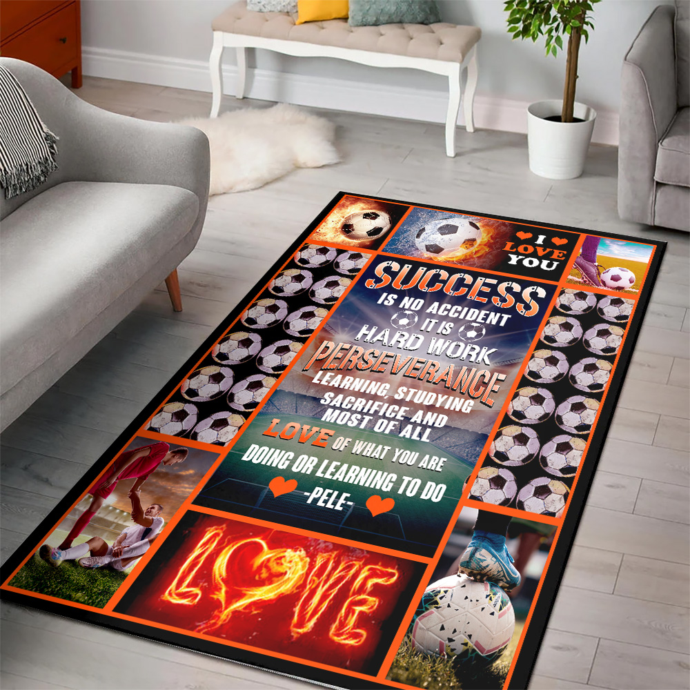 Personalized Floor Area Rugs Success Is No Accident Love Of What You Are Doing Or Learning To Do Indoor Home Decor Carpets Suitable For Children Living Room Bedroom Birthday Christmas Aniversary