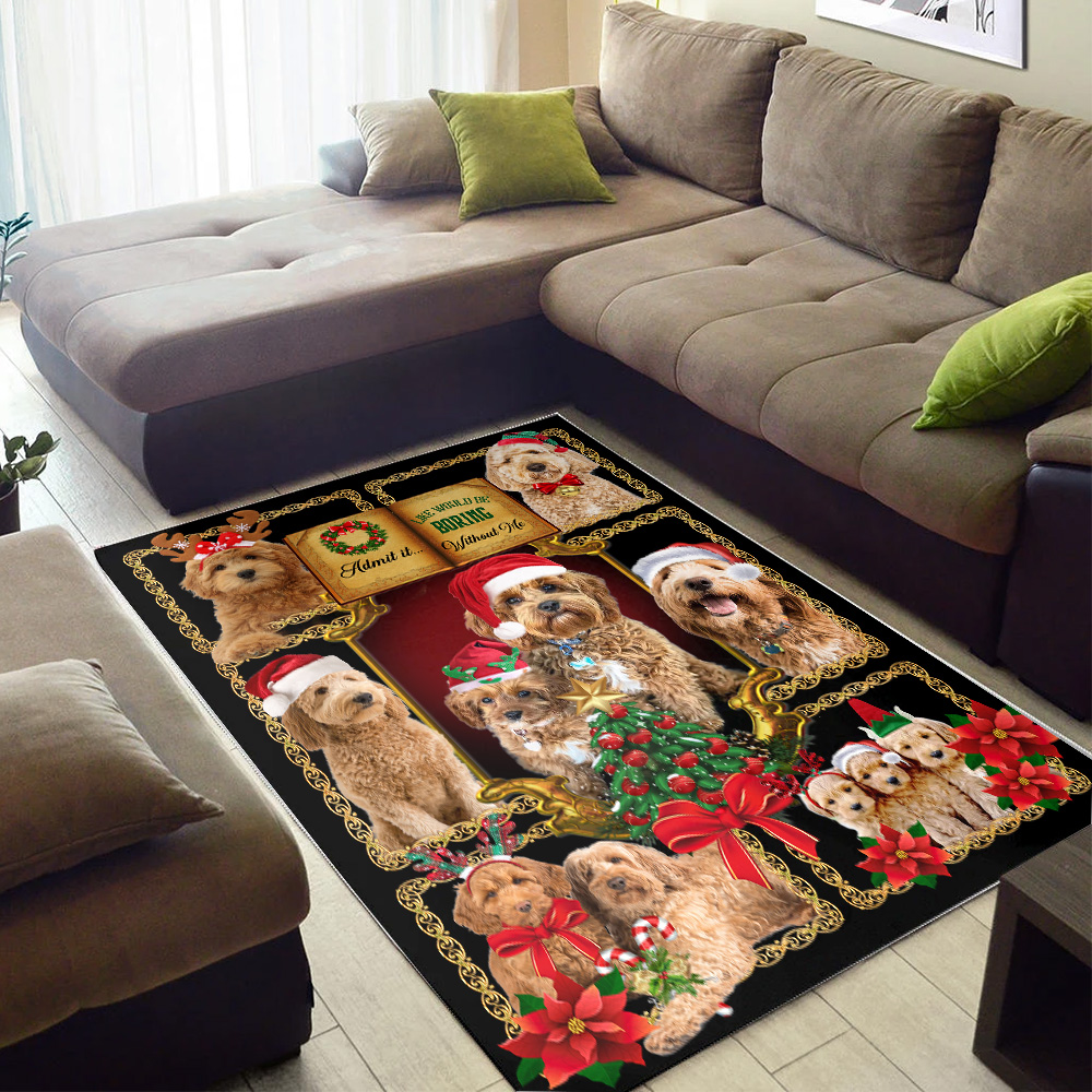 Personalized Lovely Admit It Life Would Be Boring Without Me Pattern 1 Vintage Area Rug Anti-Skid Floor Carpet For Living Room Dinning Room Bedroom Office