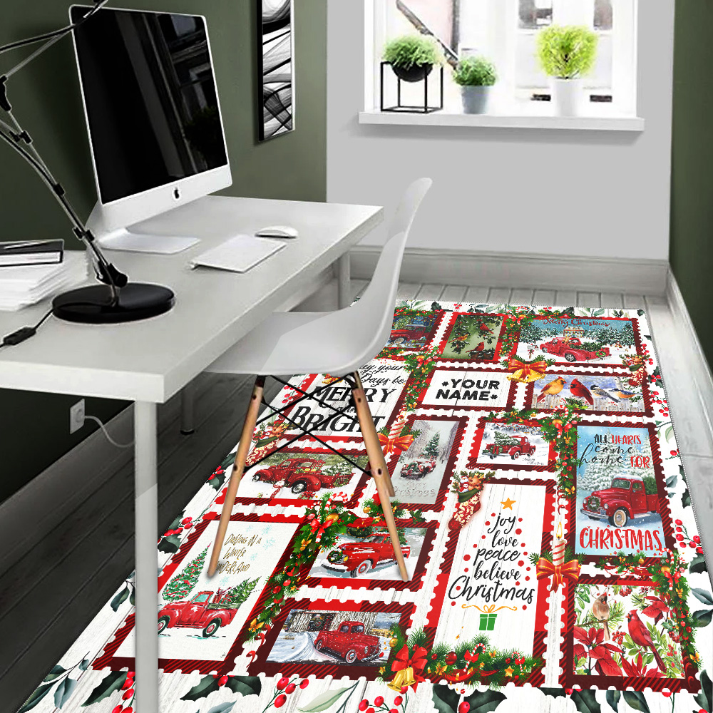 Personalized Floor Area Rugs May Your Days Be Merry And Bright Pattern 1 Indoor Home Decor Carpets Suitable For Children Living Room Bedroom Birthday Christmas Aniversary
