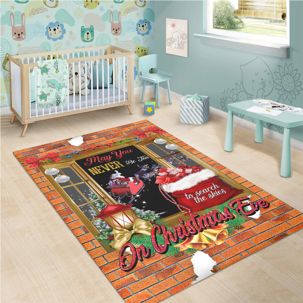 Personalized Floor Area Rugs May You Never Be Too Grown Up To Search The Skies On Christmas Eve Pattern 1  Indoor Home Decor Carpets Suitable For Children Living Room Bedroom Birthday Christmas Aniversary