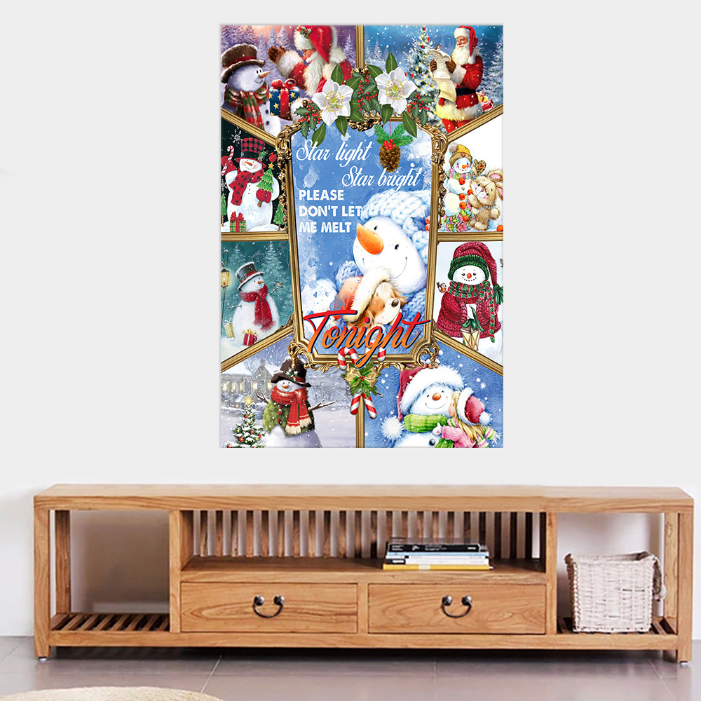 Personalized Wall Art Poster Canvas 1 Panel Star Light Star Bright Please Don't Let Me Melt Tonight  Pattern 1 Great Idea For Living Home Decorations Birthday Christmas Aniversary