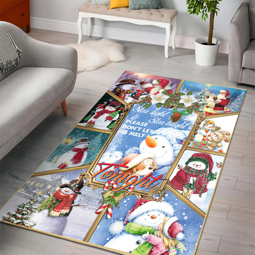 Personalized Floor Area Rugs Star Light Star Bright Please Don't Let Me Melt Tonight  Pattern 1 Indoor Home Decor Carpets Suitable For Children Living Room Bedroom Birthday Christmas Aniversary