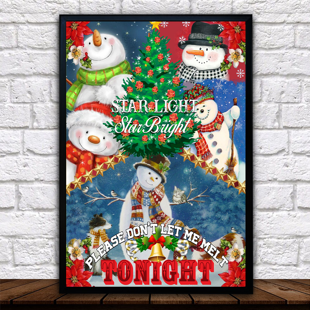 Personalized Wall Art Poster Canvas 1 Panel Star Light Star Bright Please Don't Let Me Melt Tonight  Pattern 2 Great Idea For Living Home Decorations Birthday Christmas Aniversary