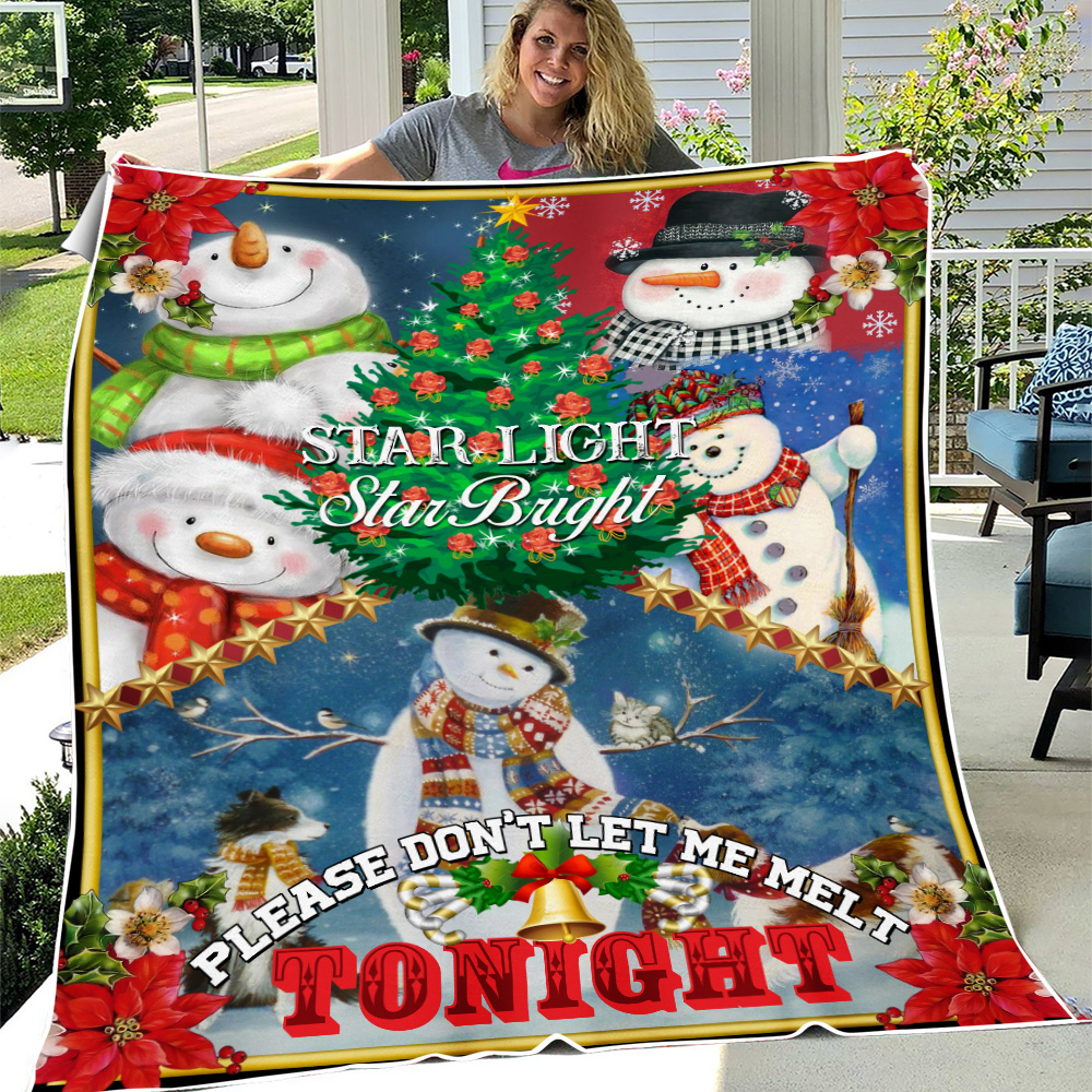 Personalized Fleece Throw Blanket Star Light Star Bright Please Don't Let Me Melt Tonight  Pattern 2 Lightweight Super Soft Cozy For Decorative Couch Sofa Bed