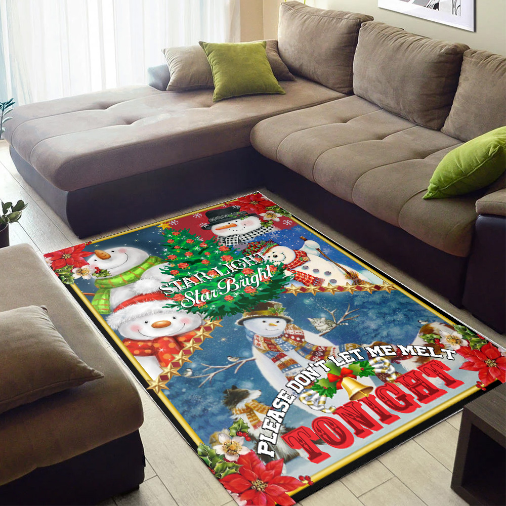 Personalized Floor Area Rugs Star Light Star Bright Please Don't Let Me Melt Tonight  Pattern 2 Indoor Home Decor Carpets Suitable For Children Living Room Bedroom Birthday Christmas Aniversary