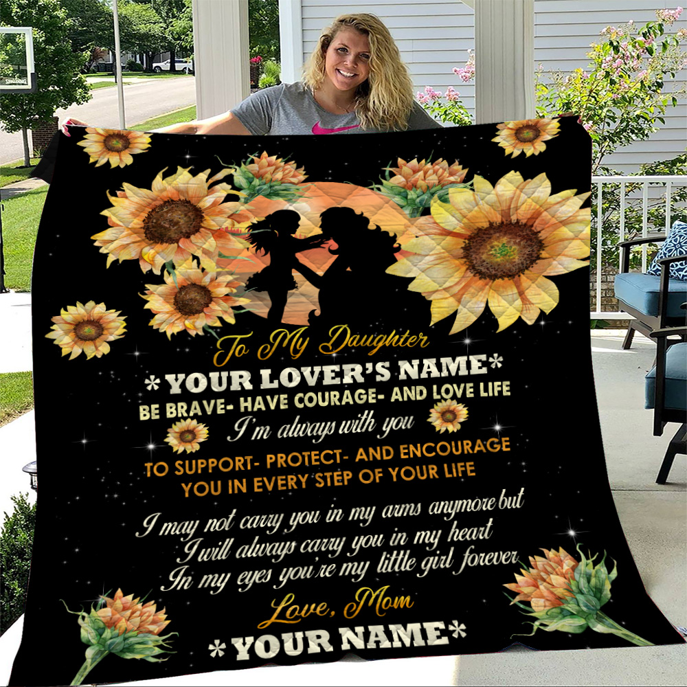 Personalized Quilt Throw Blanket To My Daughter To Support Protect And Encourage You In Every Step Of Your Life Pattern 3 Lightweight Super Soft Cozy For Decorative Couch Sofa Bed