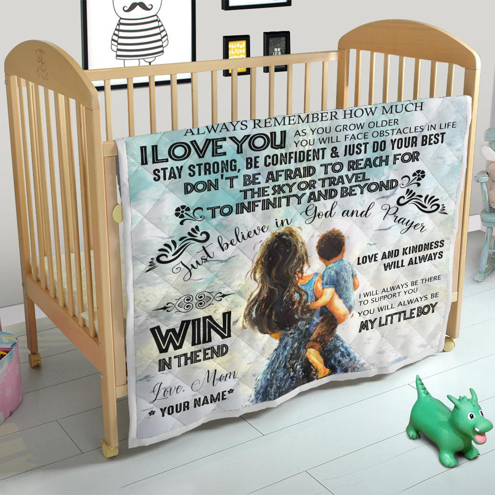 Personalized Quilt Throw Blanket To My Amazing Son My Litte Boy Pattern 2 Lightweight Super Soft Cozy For Decorative Couch Sofa Bed