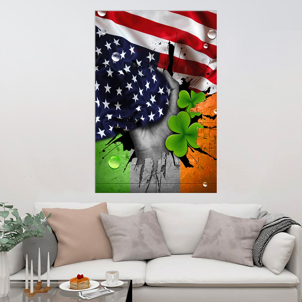 Personalized Lovely Wall Art Poster St Patrick's Day Shamrock It'S Not A Party Until The Irish Show Up  Pattern 1 Prints Decoracion Wall Art Picture Living Room Wall