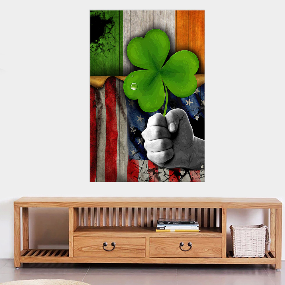 Personalized Lovely Wall Art Poster St Patrick's Day Shamrock It'S Not A Party Until The Irish Show Up Pattern 2 Prints Decoracion Wall Art Picture Living Room Wall