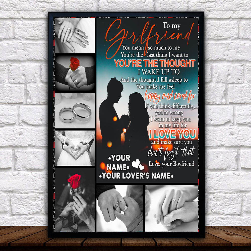 Personalized Lovely Wall Art Poster To My Girlfriend You Mean So Much To Me Pattern 1 Prints Decoracion Wall Art Picture Living Room Wall