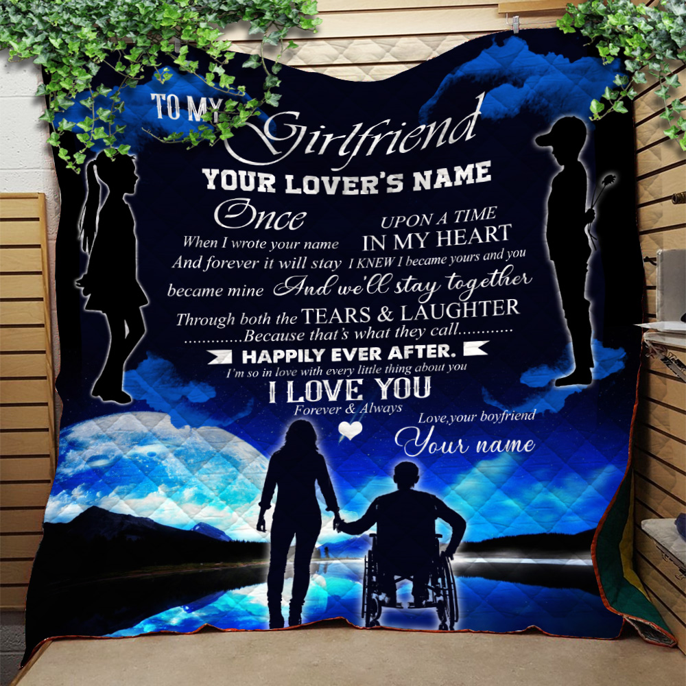 Personalized Lovely Quilt Throw Blanket To My Girlfriend We'll Stay Together Pattern 1 Lightweight Super Soft Cozy For Decorative Couch Sofa Bed