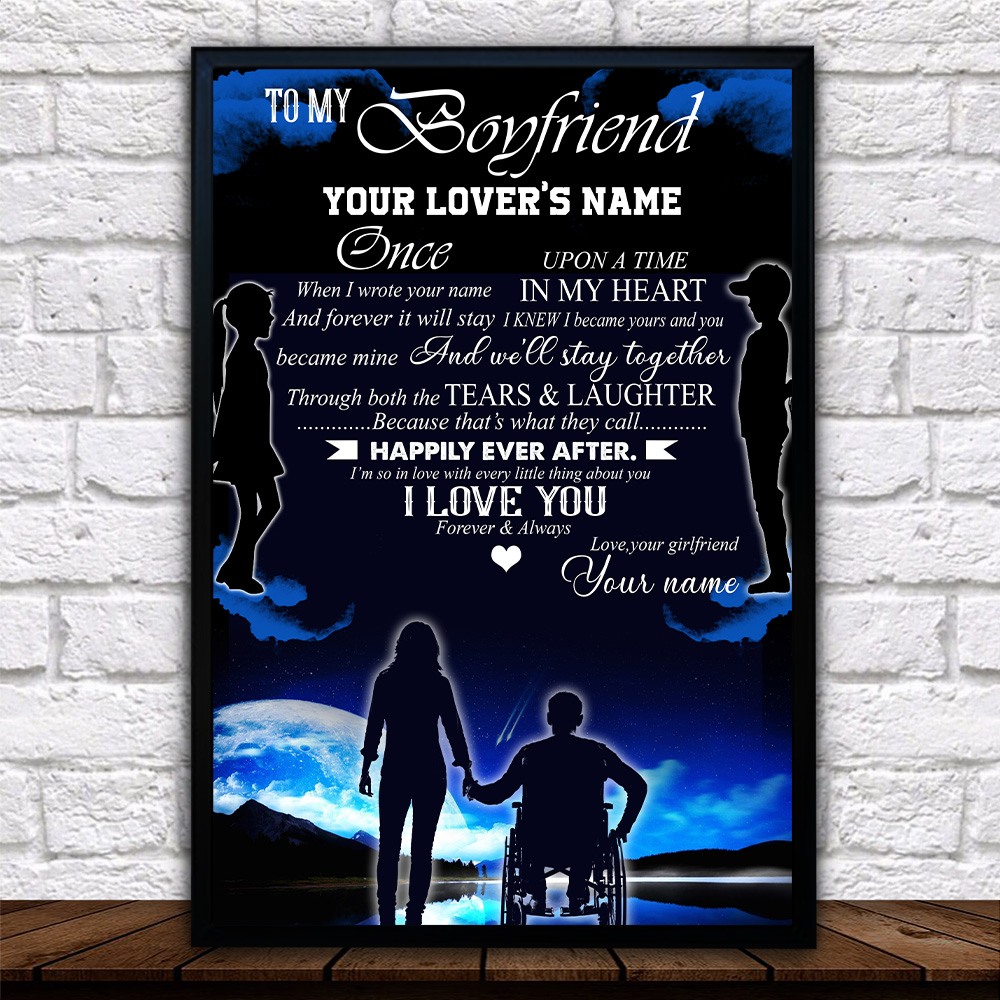 Personalized Lovely Wall Art Poster To My Boyfriend We'll Stay Together Pattern 1 Prints Decoracion Wall Art Picture Living Room Wall