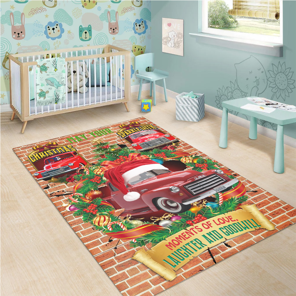 Personalized Floor Area Rugs May Your Christmas Sparkle With Moments Of Love Pattern 1 Indoor Home Decor Carpets Suitable For Children Living Room Bedroom Birthday Christmas Aniversary