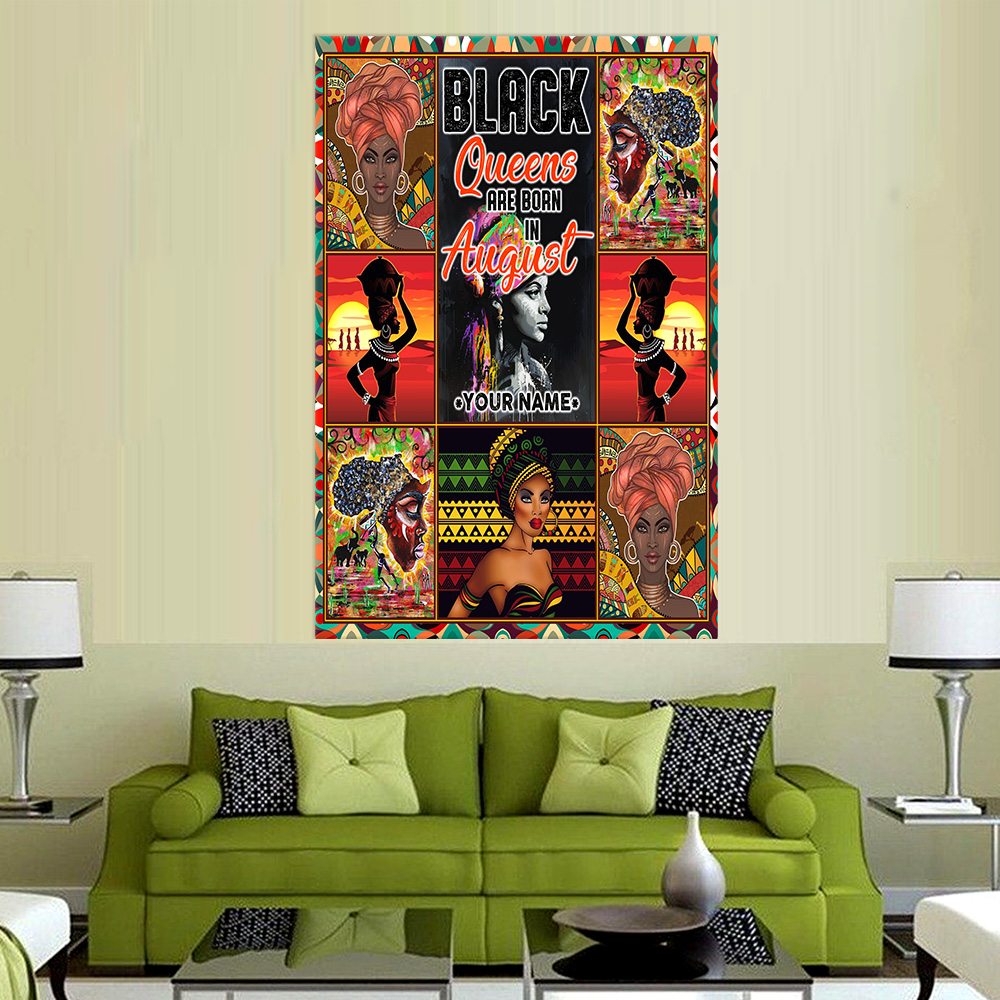 Personalized Wall Art Poster Black Queens Are Born In August Pattern 2 Prints Decoracion Wall Art Picture Living Room Wall