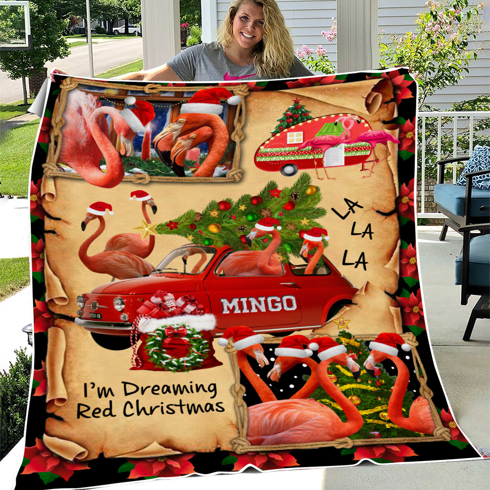 Personalized Fleece Throw Blanket A Very Pink Christmas Pattern 2 Lightweight Super Soft Cozy For Decorative Couch Sofa Bed