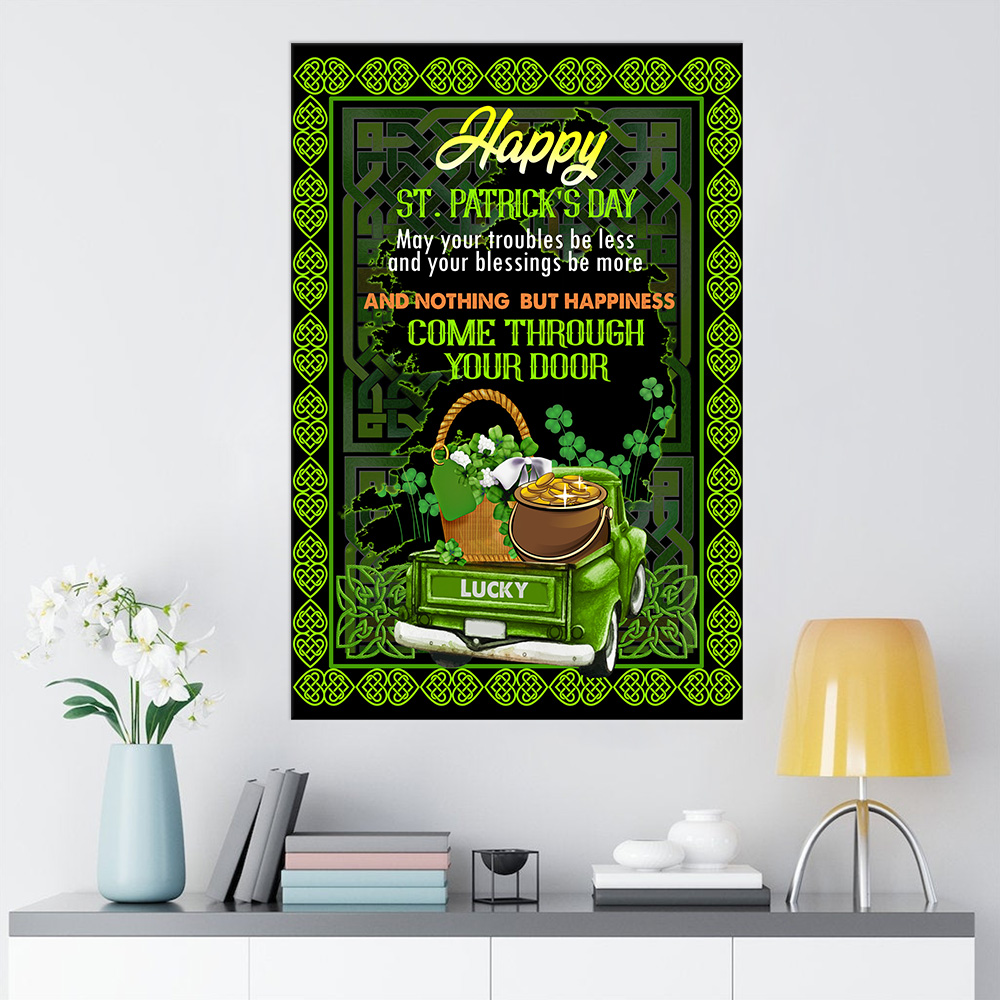 Personalized Lovely Wall Art Poster St Patrick's Day Kiss Me I'm Irish Pattern 1 Prints Decoracion Wall Art Picture Living Room Wall
