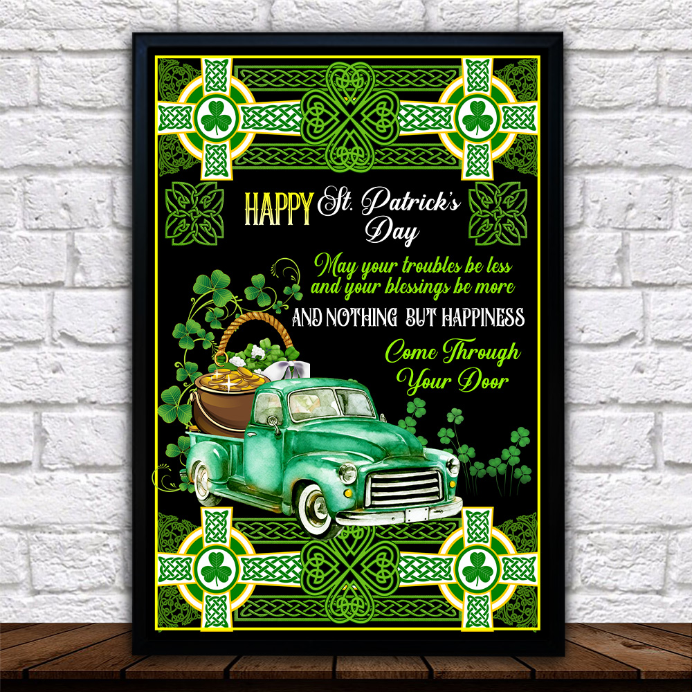 Personalized Lovely Wall Art Poster St Patrick's Day Kiss Me I'm Irish Pattern 2 Prints Decoracion Wall Art Picture Living Room Wall