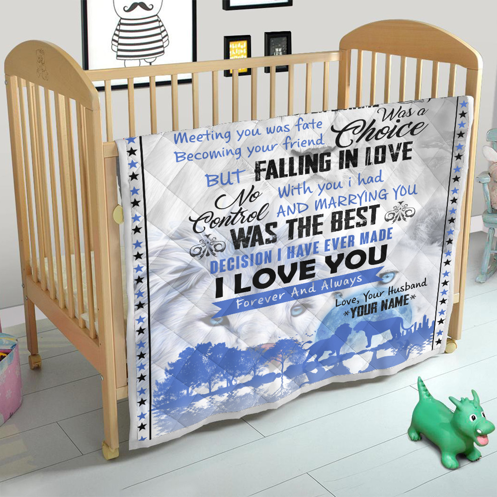 Personalized Quilt Throw Blanket To My Gorgeous Wife I Love You Forever& Always Lightweight Super Soft Cozy For Decorative Couch Sofa Bed