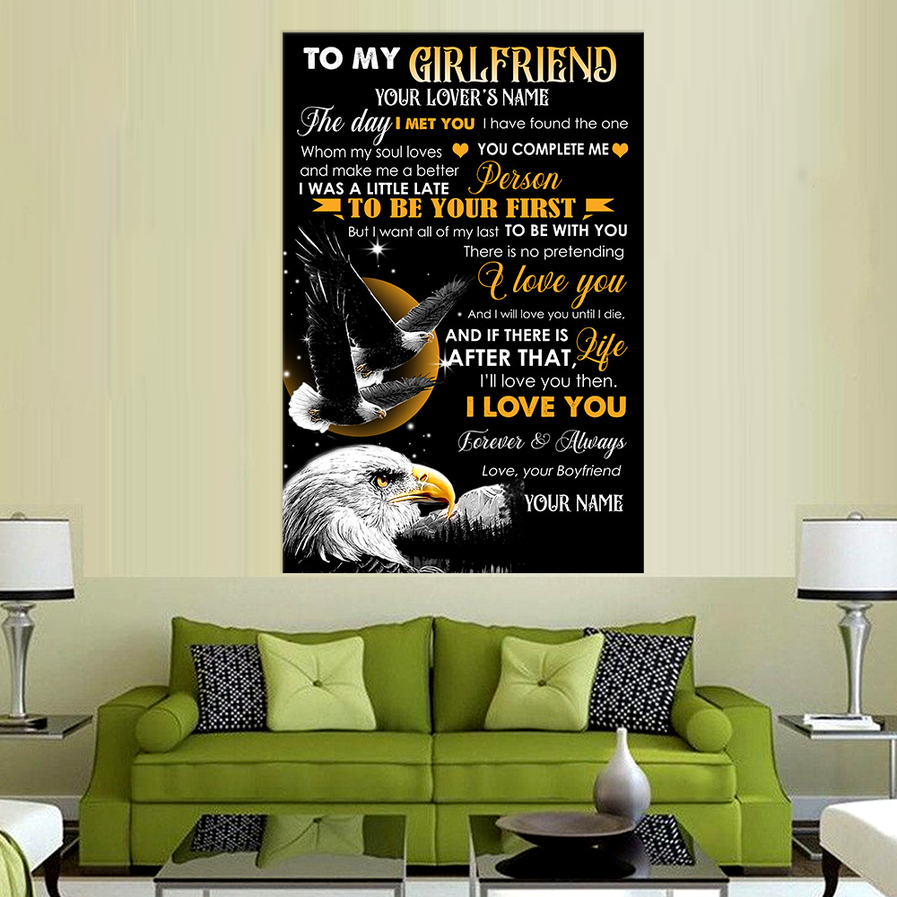 Personalized Lovely Wall Art Poster To My Girlfriend The Day I Met You I Have Found The One Whom My Soul Loves Pattern 2 Prints Decoracion Wall Art Picture Living Room Wall