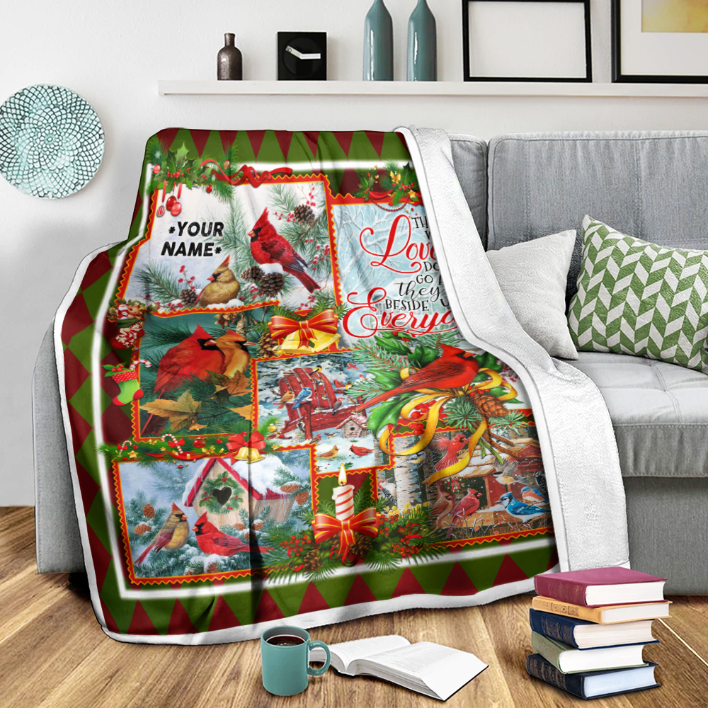 Personalized Fleece Throw Blanket Those We Love Don't Go Away They Walk Beside Us Everyday Pattern 2 Lightweight Super Soft Cozy For Decorative Couch Sofa Bed
