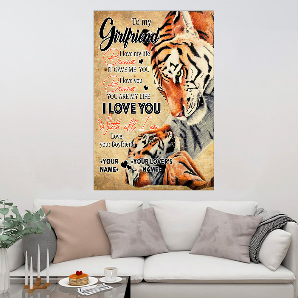 Personalized Lovely Wall Art Poster To My Girlfriend You Are My Life Pattern 2 Prints Decoracion Wall Art Picture Living Room Wall