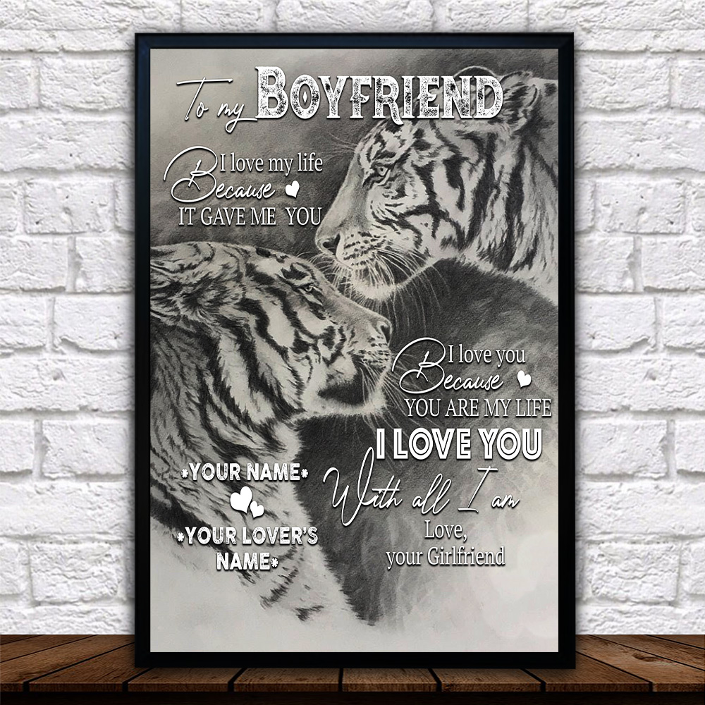 Personalized Lovely Wall Art Poster To My Boyfriend You Are My Life Pattern 1 Prints Decoracion Wall Art Picture Living Room Wall