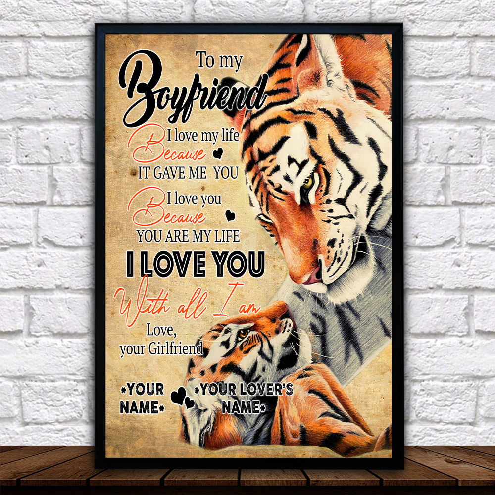 Personalized Lovely Wall Art Poster To My Boyfriend You Are My Life Pattern 2 Prints Decoracion Wall Art Picture Living Room Wall