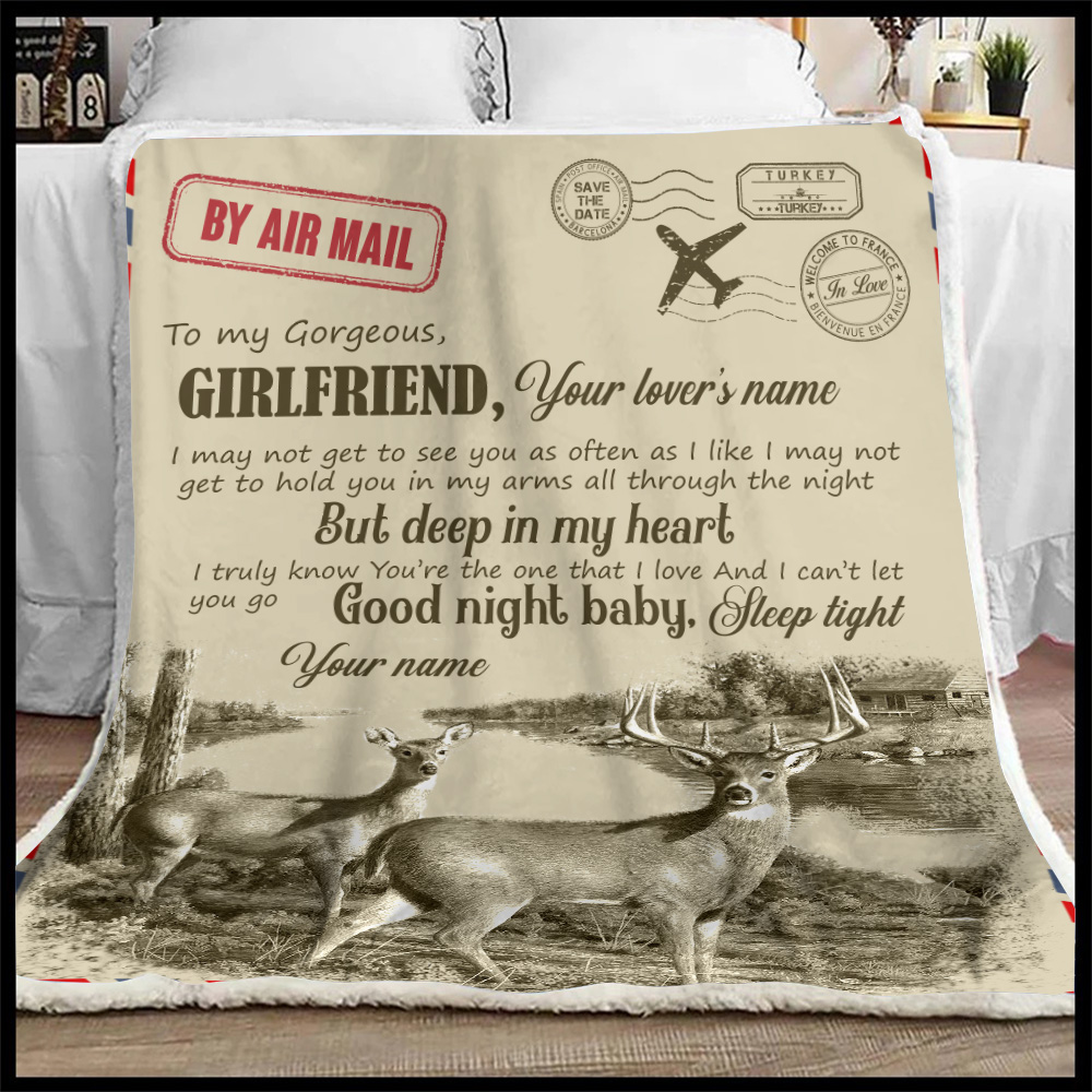 Personalized Lovely Fleece Throw Blanket To My Girlfriend You Are The One That I Love Pattern 2 Lightweight Super Soft Cozy For Decorative Couch Sofa Bed