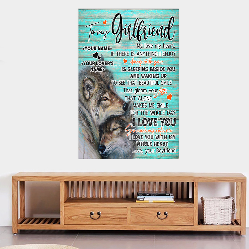 Personalized Lovely Wall Art Poster To My Girlfriend I Love You So Much My Cutie Pie Pattern 2 Prints Decoracion Wall Art Picture Living Room Wall