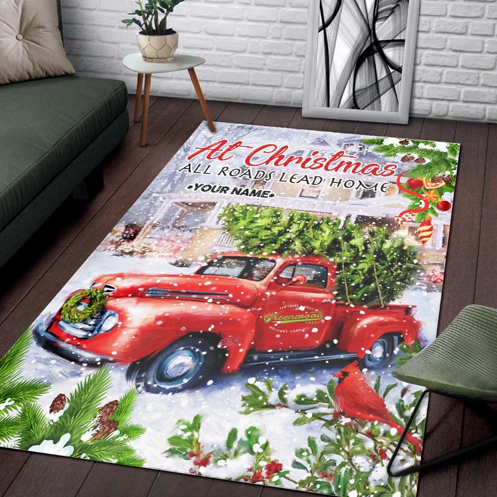Personalized Floor Area Rugs At Christmas All Roads Lead Home Pattern 2 Indoor Home Decor Carpets Suitable For Children Living Room Bedroom Birthday Christmas Aniversary