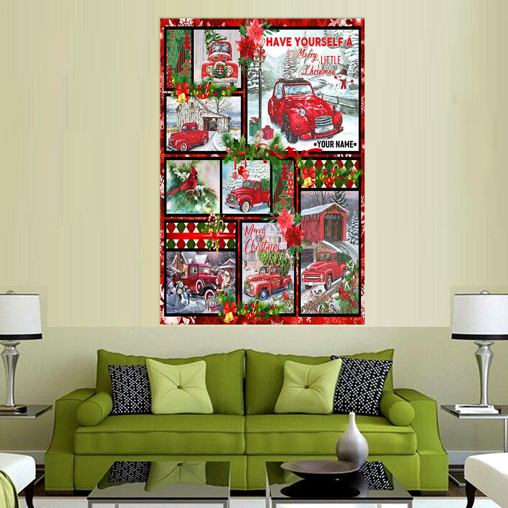 Personalized Wall Art Poster Canvas 1 Panel Have Yourself A Merry Little Christmas Pattern 1 Great Idea For Living Home Decorations Birthday Christmas Aniversary