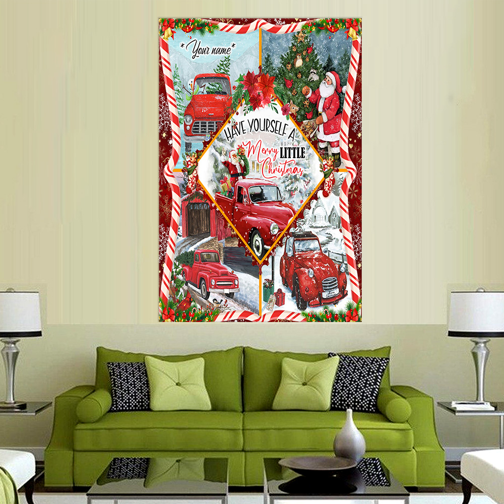 Personalized Wall Art Poster Canvas 1 Panel Have Yourself A Merry Little Christmas Pattern 2 Great Idea For Living Home Decorations Birthday Christmas Aniversary