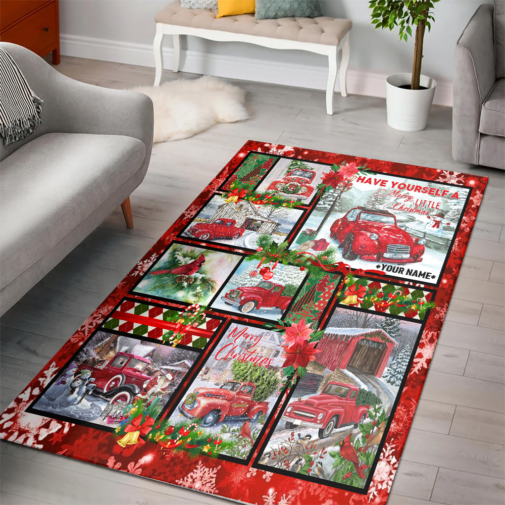 Personalized Floor Area Rugs Have Yourself A Merry Little Christmas Pattern 1 Indoor Home Decor Carpets Suitable For Children Living Room Bedroom Birthday Christmas Aniversary