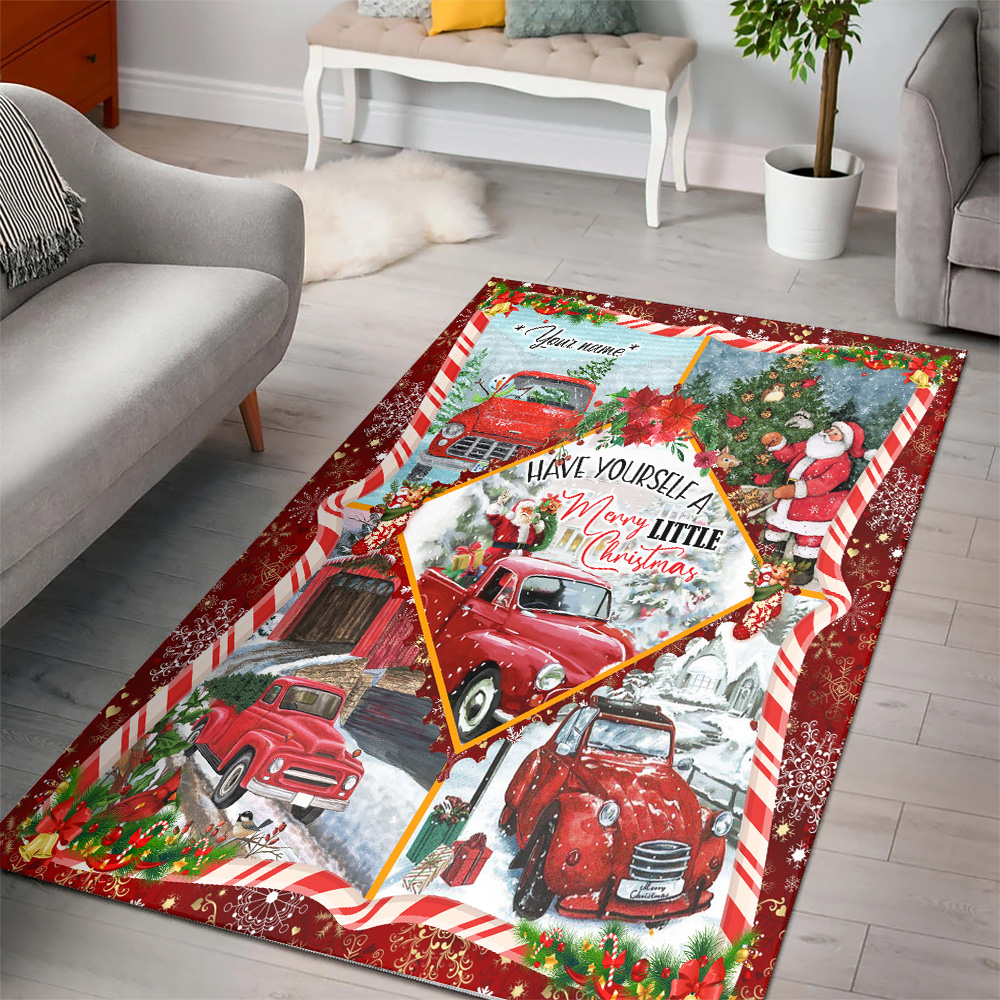Personalized Floor Area Rugs Have Yourself A Merry Little Christmas Pattern 2 Indoor Home Decor Carpets Suitable For Children Living Room Bedroom Birthday Christmas Aniversary