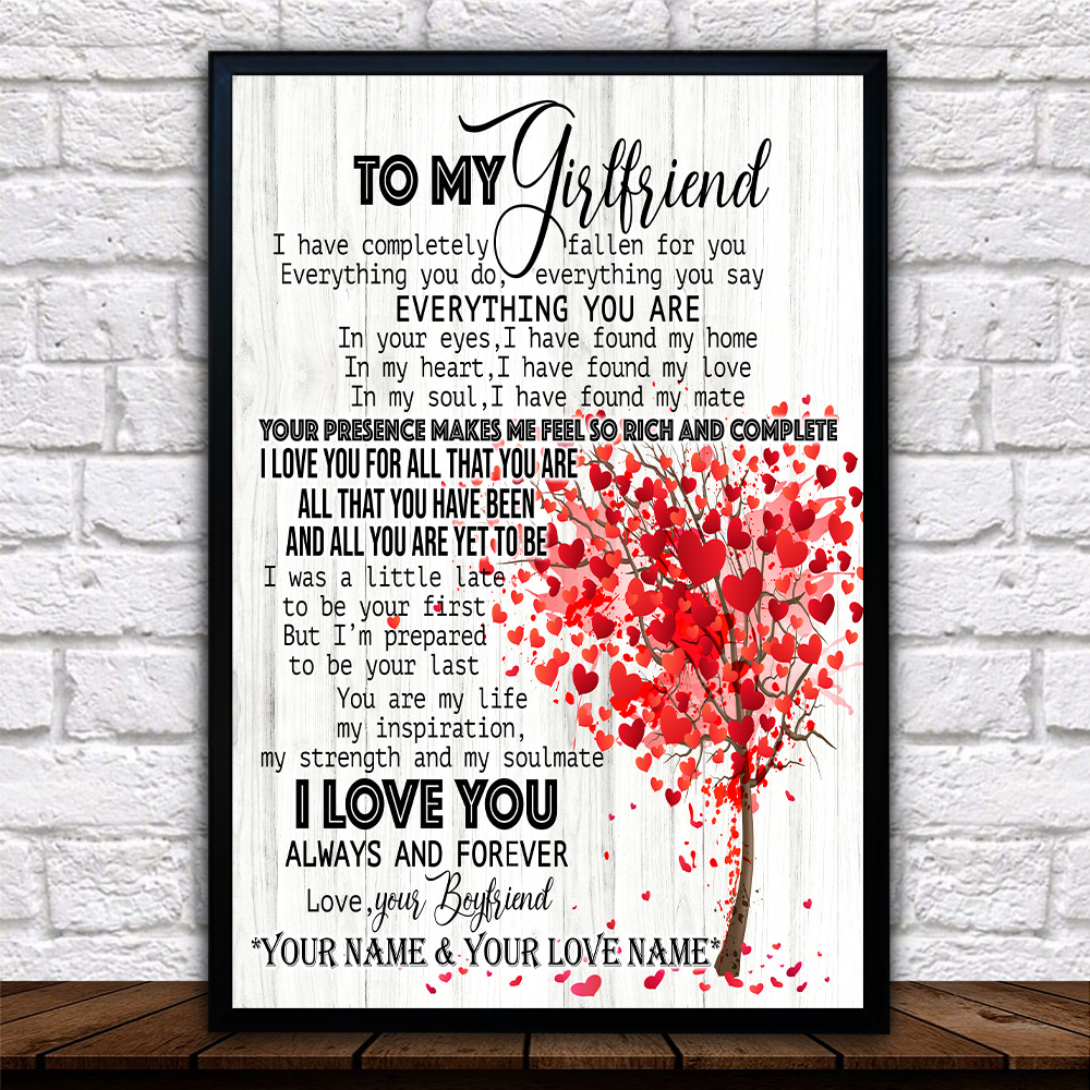 Personalized Lovely Wall Art Poster To My Girlfriend I Love You For All Pattern 1 Prints Decoracion Wall Art Picture Living Room Wall