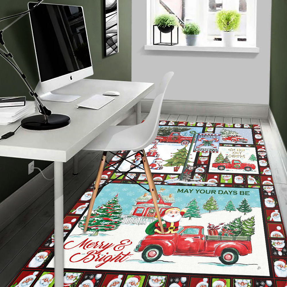 Personalized Floor Area Rugs May Your Days Be Merry And Bright Pattern 2 Indoor Home Decor Carpets Suitable For Children Living Room Bedroom Birthday Christmas Aniversary