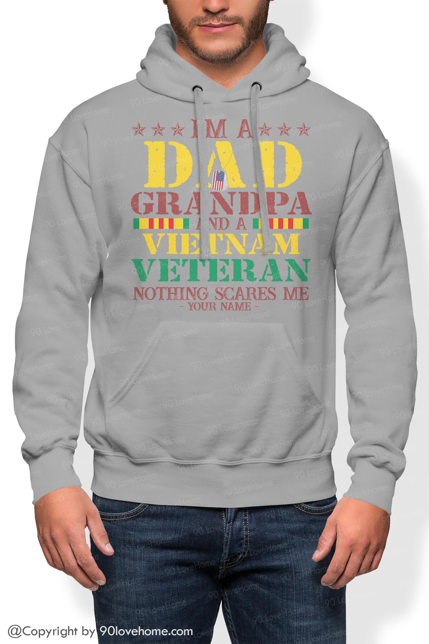 Dad Hoodie I'm A Dad Grandpa And A Vietnam Veteran Hoodie (2)
