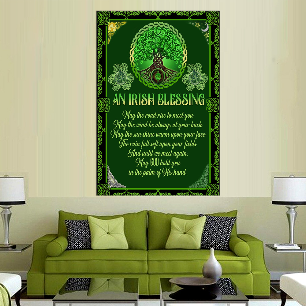 Personalized Lovely Wall Art Poster St Patrick's Day An Irish Blessing Pattern 1 Prints Decoracion Wall Art Picture Living Room Wall