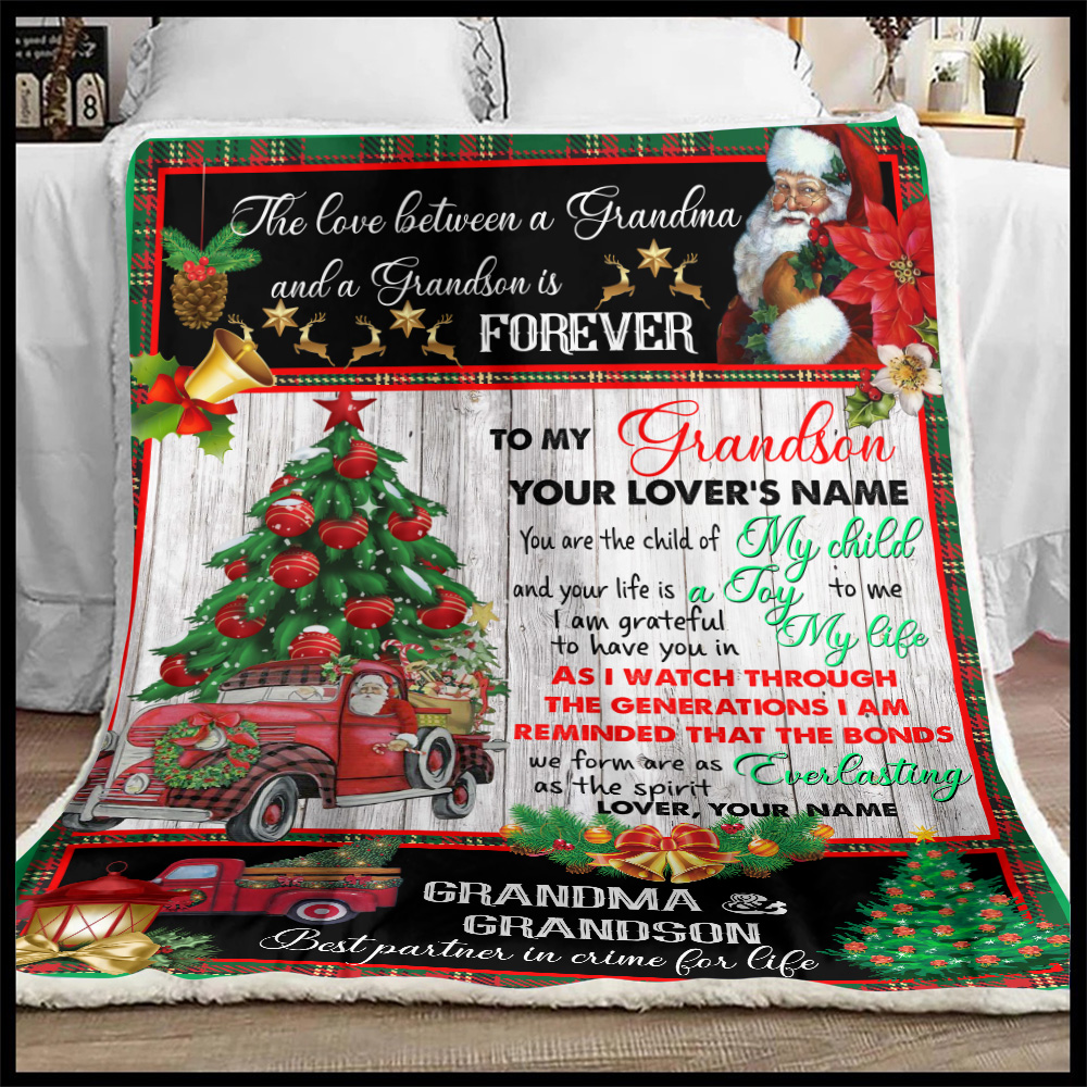 Personalized Fleece Throw Blanket To My Grandson I Am Grateful To Have You In My Life Pattern 1 Lightweight Super Soft Cozy For Decorative Couch Sofa Bed
