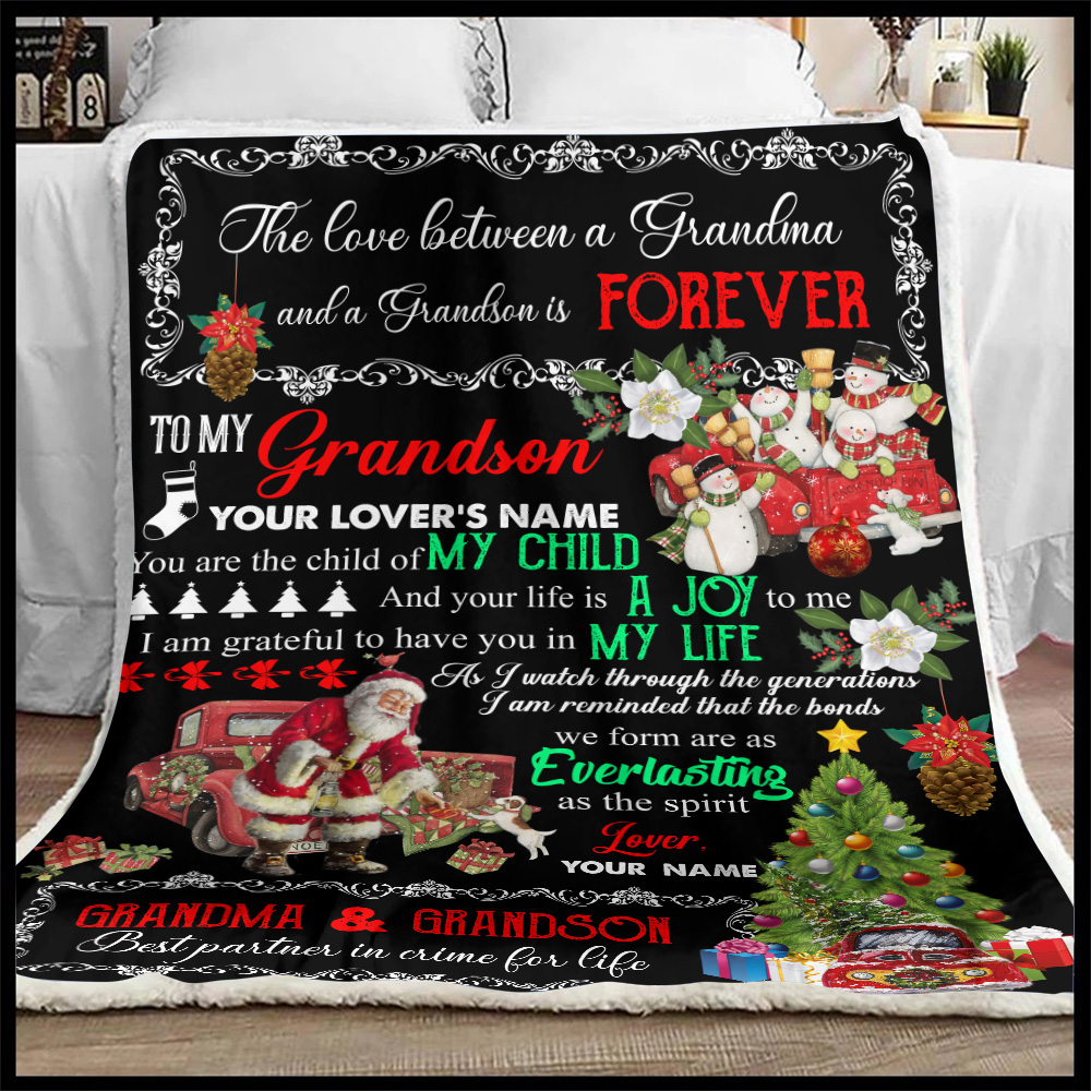 Personalized Fleece Throw Blanket To My Grandson I Am Grateful To Have You In My Life Pattern 2 Lightweight Super Soft Cozy For Decorative Couch Sofa Bed