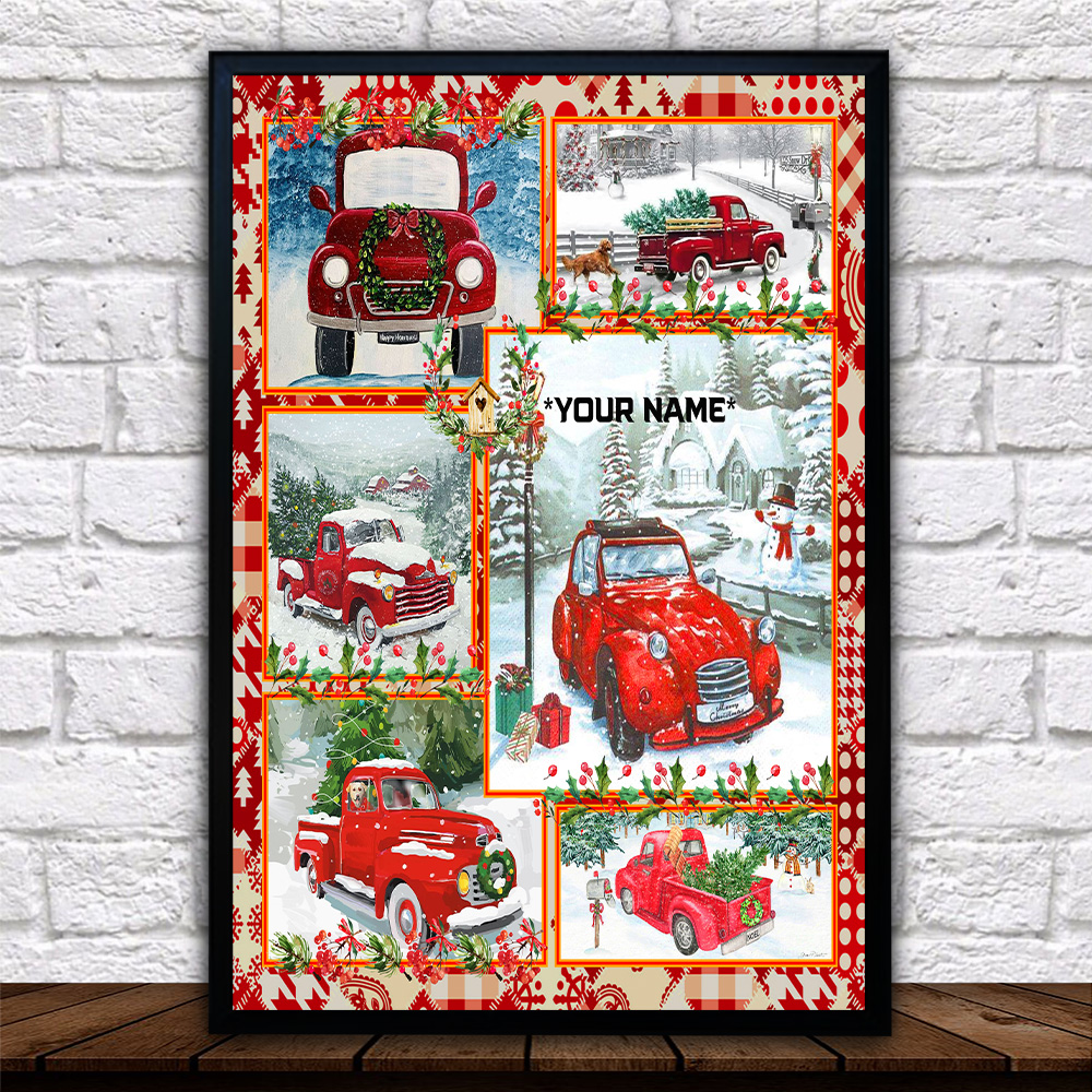 Personalized Wall Art Poster Canvas 1 Panel Take A Little Christmas With You Wherever You Go Pattern 1 Great Idea For Living Home Decorations Birthday Christmas Aniversary