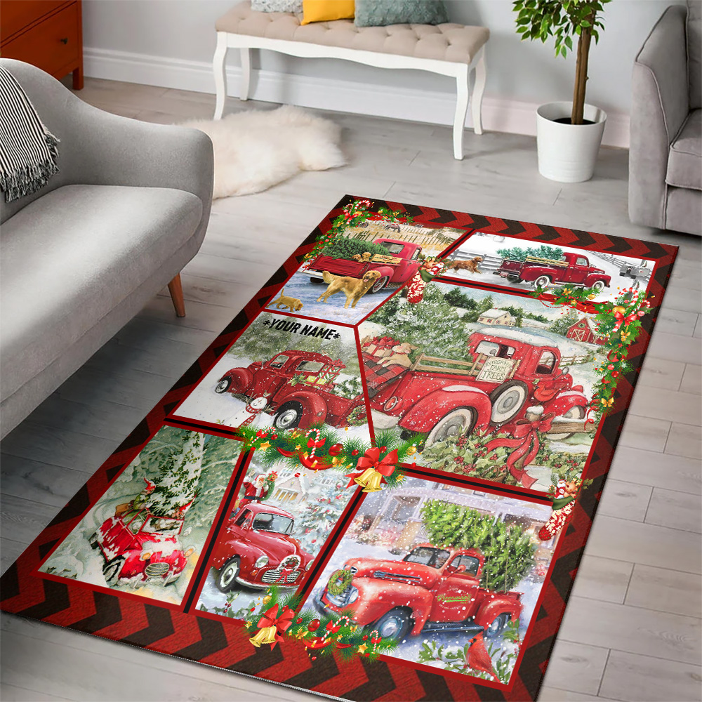 Personalized Floor Area Rugs Take A Little Christmas With You Wherever You Go Pattern 2 Indoor Home Decor Carpets Suitable For Children Living Room Bedroom Birthday Christmas Aniversary
