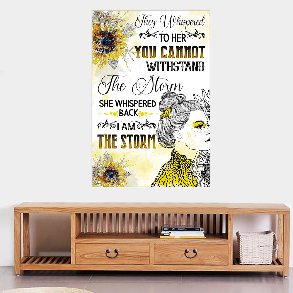 Personalized Wall Art Poster Canvas 1 Panel They Whispered To Her You Cannot Withstand Pattern 1 Great Idea For Living Home Decorations Birthday Christmas Aniversary