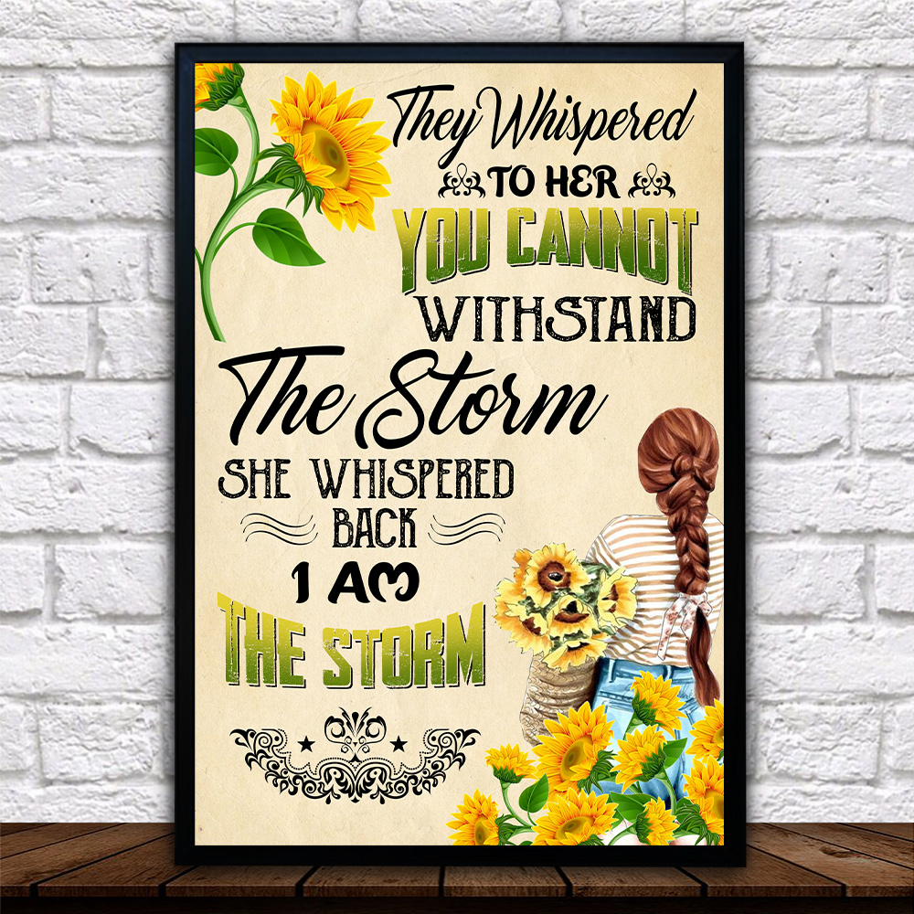 Personalized Wall Art Poster Canvas 1 Panel They Whispered To Her You Cannot Withstand Pattern 2 Great Idea For Living Home Decorations Birthday Christmas Aniversary